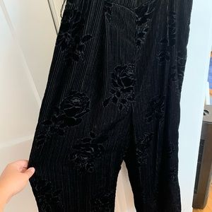Devore Velvet Black Jumpsuit